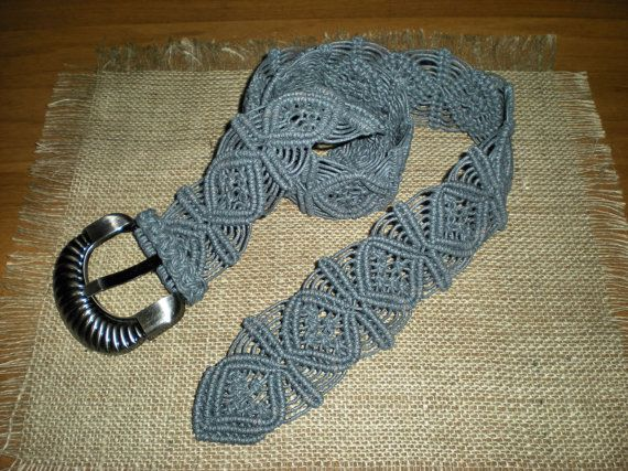 Macramé belt grey women accessories casual by AngelaMacrame, €100.00