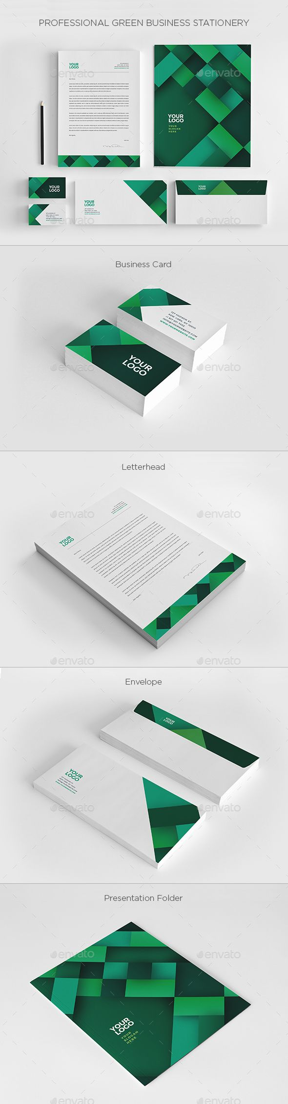 12 best stationery images on pinterest ai illustrator black and professional green business stationery stationery print templates download here https accmission Images