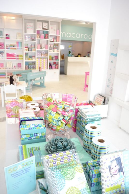 The Colourful headquarters to Macaroon! 3 bright and happy years for the personalised stationery company in these uplifting and creative studio and shop  - Greenside, Johannesburg, South Africa - now all available online on www.macaroon.co.za