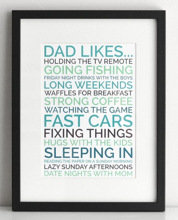 dad likes poster
