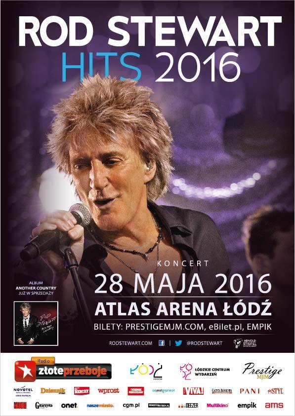 #RodStewart - oficjalny plakat koncertu w #AtlasArena