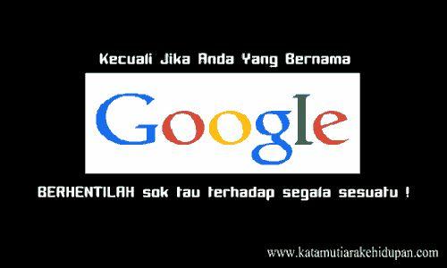 Kata Mutiara Lucu Google
