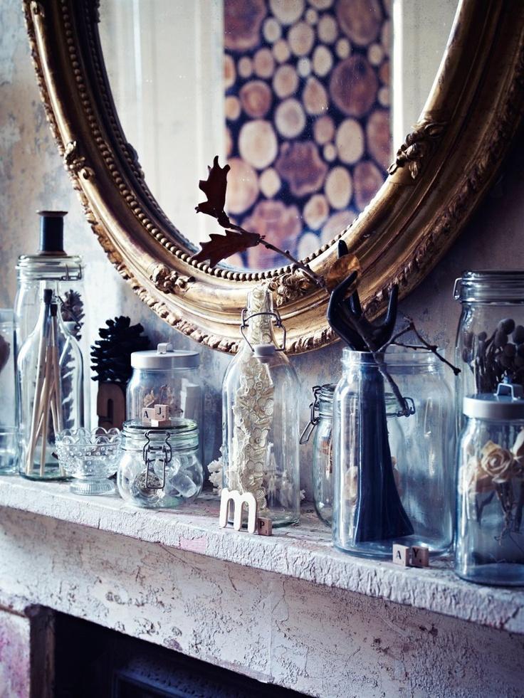 Glass, blonder, naturmaterialer, gull og barokk
