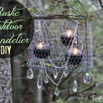 Spring Challenge: Rustic Outdoor Chandelier DIY