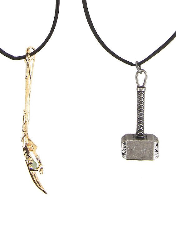Marvel Avengers Thor & Loki Cord Necklace Set, My sister and I have these. And yet she won't be my Loki for SDCC.