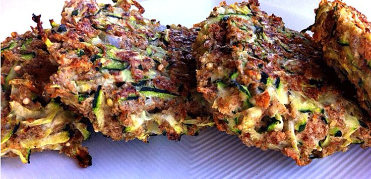 Zucchini Fritters If you've never had the chance to try zucchini fritters then this recipe is for you! These fritters are unbelievably easy to make, low calorie, and the perfect way to sneak in some v