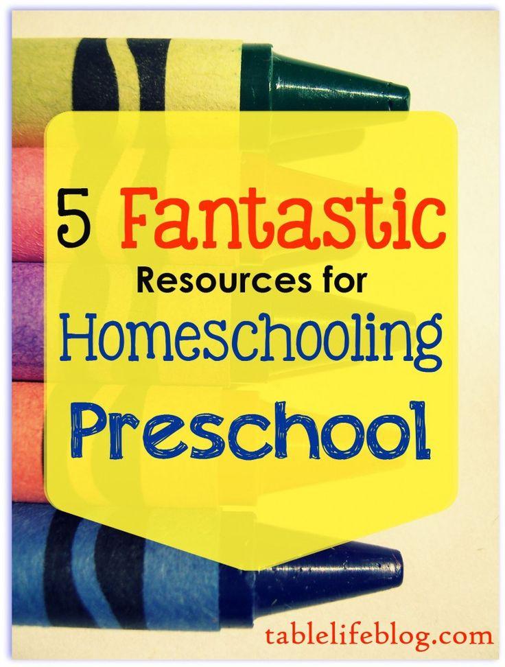5 Fantastic Resources for Homeschooling Preschool