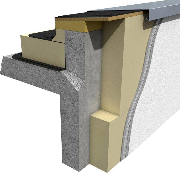 Attikadetail für WDVS und VHF als wärmebrückenfreie Konstruktionen #passivhaus #ceroenergia #casapasiva