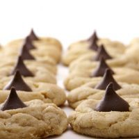 Thumbprint Hershey's Kiss Cookies (No peanut butter in this recipe)