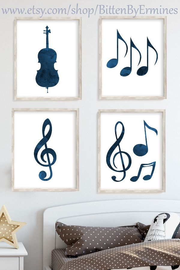 Music Wall Art Set Music Themed Rooms Music Themed Nursery Music Wall Art