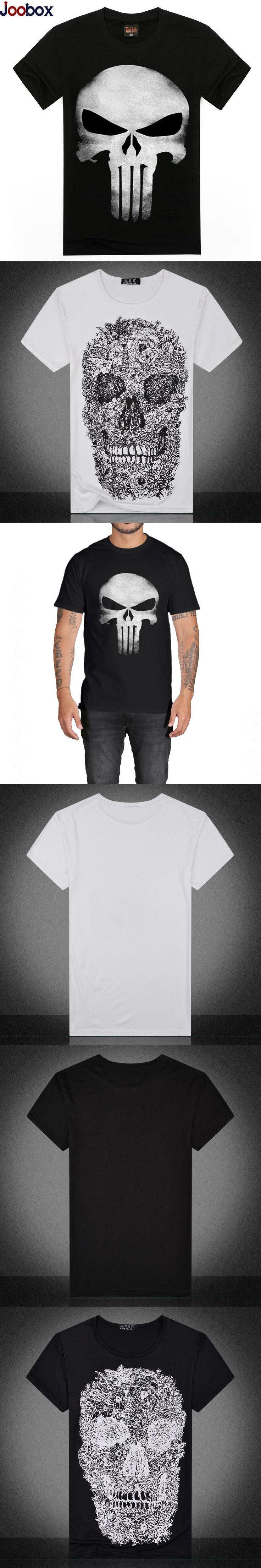 Punisher T shirt men New 2017 Skulls 3d t shirt Camisetas hombre Cotton Casual Short Sleeves tee shirt homme punisher tshirt men