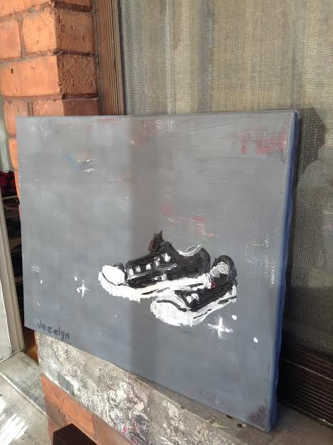 diamonds on the soles of her shoes - SOLD