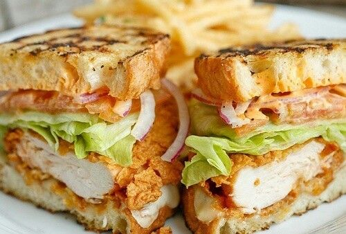 Chicken cheese bacon ranch sandwich