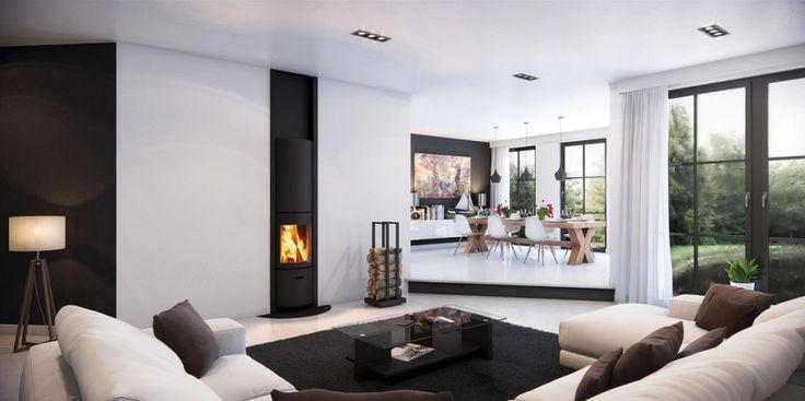 Дизайн уютных гостиных комнат - Камин
