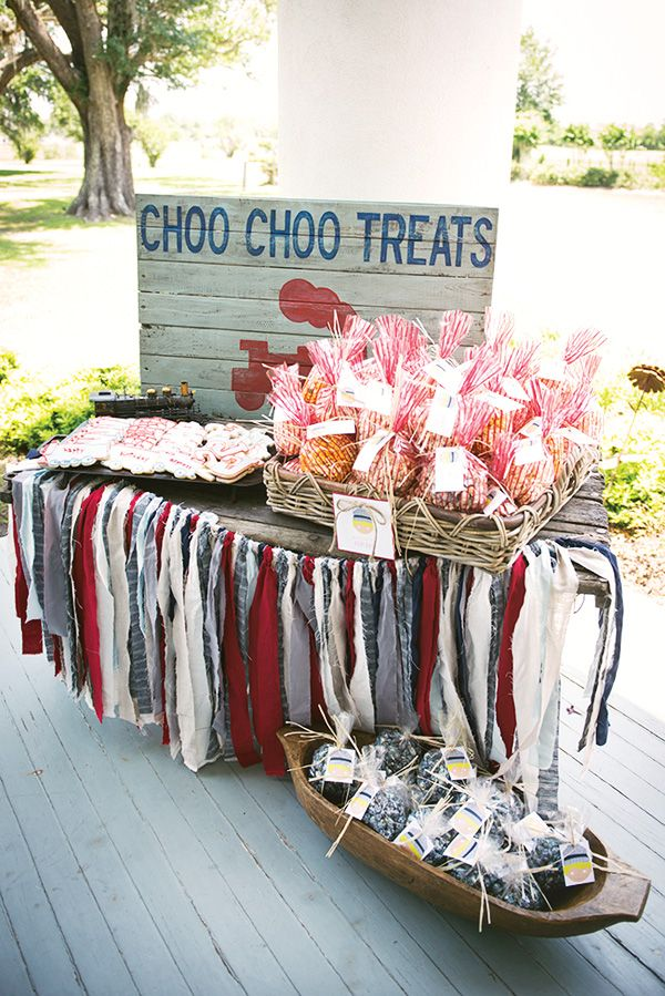 Vintage Train Birthday Party {Red, Blue & Choo Choo!} - Hostess with the Mostess®