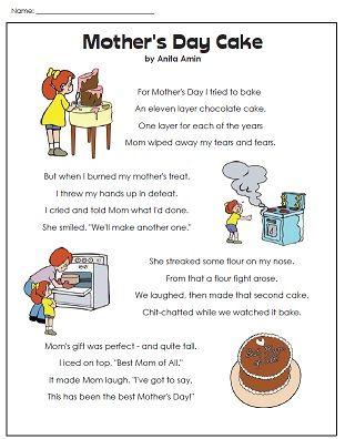 A poem for Mother's Day!   Super Teacher Worksheets ...