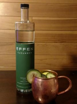 """Part 1 of 4 with Effen Cucumber Vodka: """"The Cucumber Mule"""""""