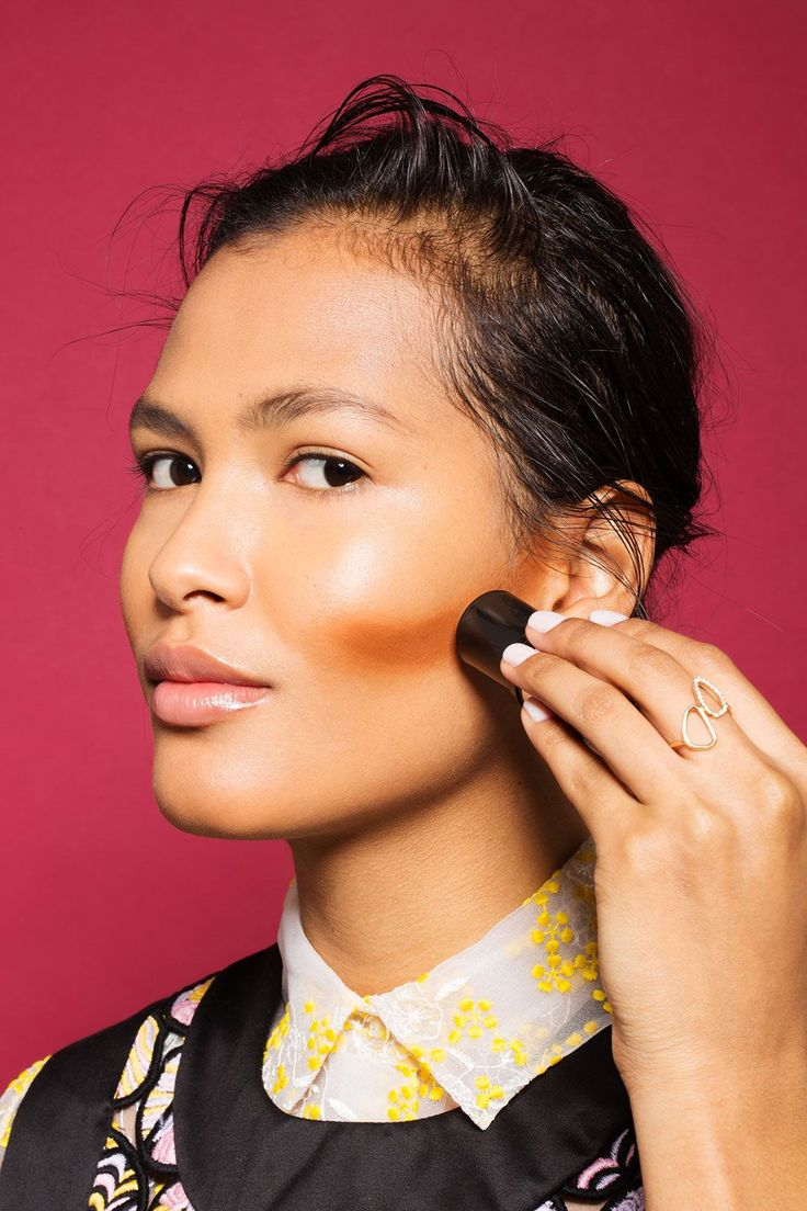 This Contouring Hack Will Save You So Much Money #refinery29  http://www.refinery29.com/contouring-makeup-concealer#slide-2  Skin prepped? Great, let's begin! Carve out your cheekbones with your foundation (or any other face product you prefer) that is two to three shades deeper than your skin tone. Luna recommends using a stick foundation because you can apply it straight out of the bullet, but if you're using cream or concealer simply grab a synthetic brush to apply it. To determine where…