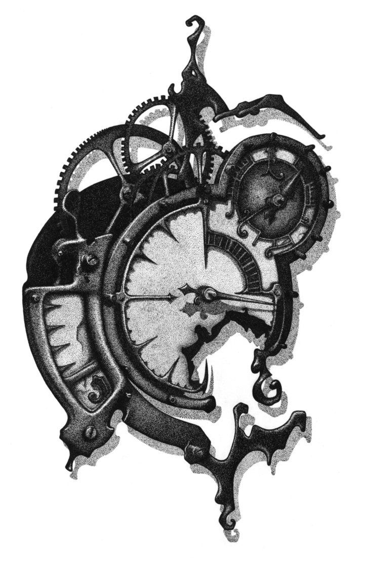 Rendering Of Mechanical Clock No 6 By Eric Freitas By