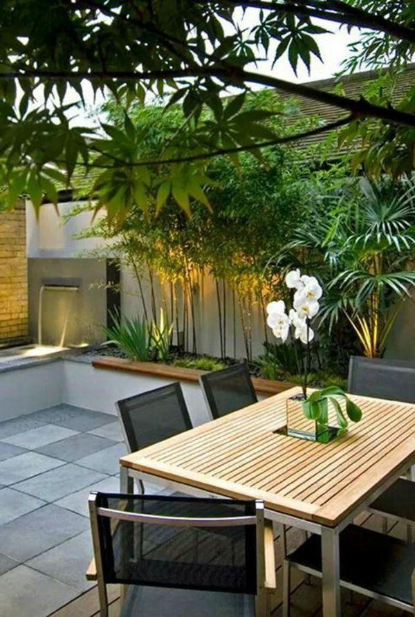 exotisches ambiente bambus elemente auf der terrasse house terraza jardin jardin en