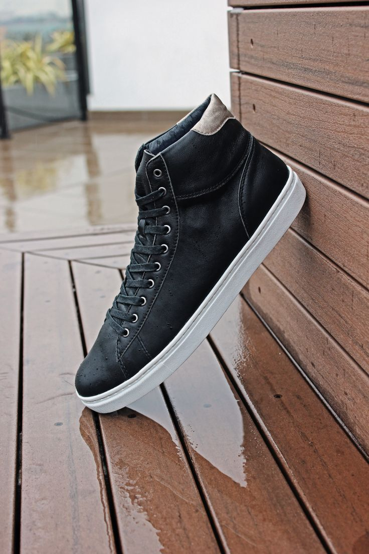Cruz High Tops decked out in Smooth Leather, perfect in any weather! // ELECT Footwear - Our Shoes // #electfootwear #leather #sneakers #sneakerstyle #sneakerhead