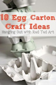 We all have them floating around our recycling bins, but what egg carton crafts…