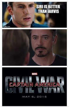Go Jarvis! Go Jarvis! I really on Captain America's side though (in the actual movie). Sorry, Iron Man fans! He rocks but, I like Cap better.