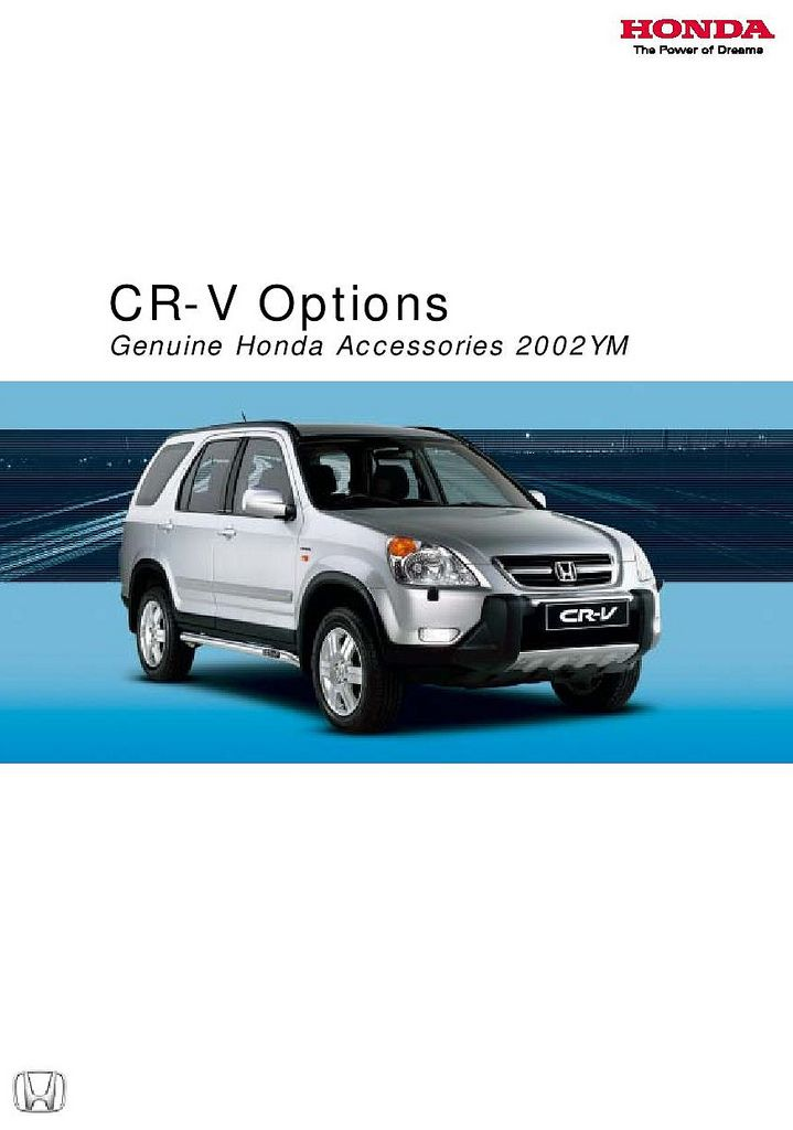 Honda CR-V Mk2 UK Accessory Brochure 2002