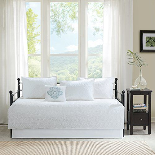 Product review for Madison Park Mansfield White 6 Piece Daybed Set.  - Provide your guests with a simple, new look with the Mansfield Daybed Set. The white cover features decorative quilting and three reversible shams for you to decorate the top of bed however you like. One decorative pillow and a bedskirt use coordinating fabrics to complete this look. Set....  Continue reading at  https://www.bestselleroutlet.net/bedding/bedding-sets-collections/daybed-sets/product-review