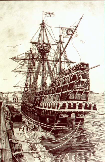 The Golden Hinde, Sir Francis Drake