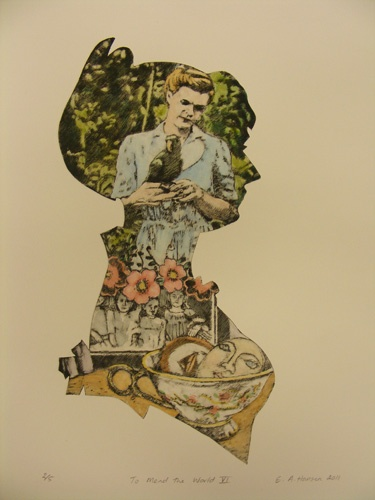 Esther Hansen, To Mend the world 6, etching 2011