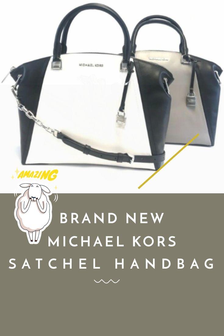 6c4bc559111d06 BRAND NEW WOMEN'S MICHAEL KORS SADIE LARGE TOP ZIP LEATHER SATCHEL BAG  HANDBAG