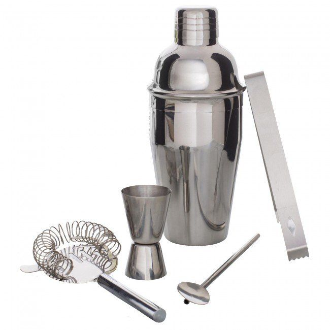 Entertain like a pro and serve your favourite cocktails with our classic and stylish Mixy Cocktail Shaker Set. Featuring a smooth stainless steel construction, this set looks great on your buffet, sideboard or bar.