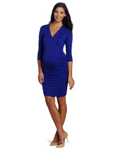 Three Seasons Maternity Women's Side Rouche Dress « Clothing Adds Anytime