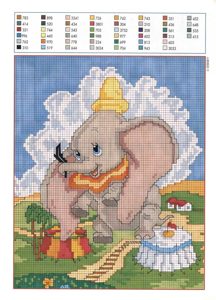 as half a panel with Dumbo the elephant (2)