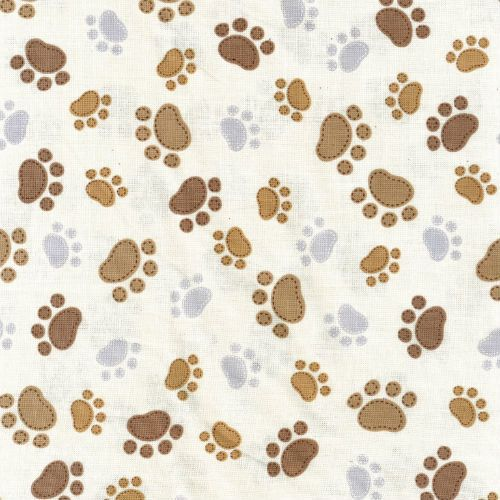 Timeless Dogs - Paw Prints Cream