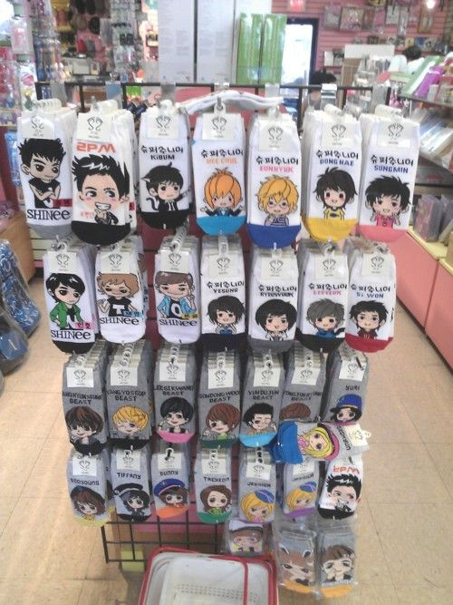 Cover your feet with your favorite K-Pop star:)