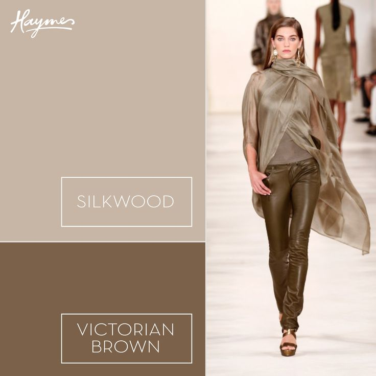Inspired by the New York Fashion Week runway, make your own style statement with Haymes Silkwood and Victorian Brown.