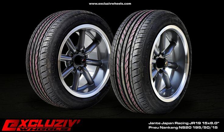 jantes japan racing jr19 15x8 0 pneus nankang ns20 195 50 15 excluziv 39 wheels jantes. Black Bedroom Furniture Sets. Home Design Ideas