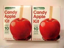 Lot of 2 CONCORD FOODS RED CANDY APPLE MIX KIT MAKES 10 CANDY APPLES