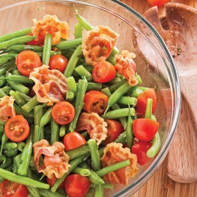 Salade de haricots verts et pancetta - Recettes - Cuisine et nutrition - Pratico Pratique