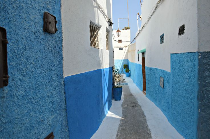 The blue streets I discovered in Rabat are incredibly beautiful.