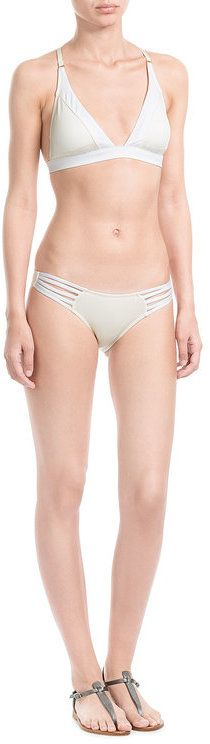 Paolita Two-Tone Bikini Bottoms with Cut-Out Detail