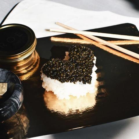 White Sturgeon Caviar Nigiri Sushi