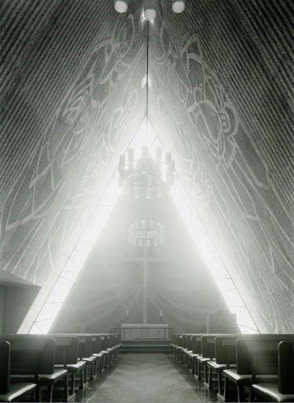 Bakkehaugen kirke, Oslo, Erling Viksjøs, 1958-59
