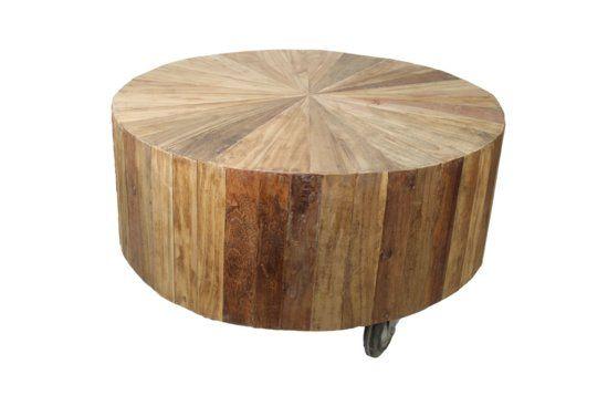 HSM Collection - salontafel rond - 3 wielen - blank