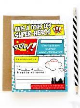 Invitation anniversaire Super héros