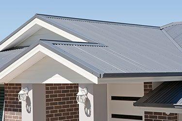 Ironstone roof and surfmist fascia