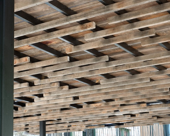 Lovely wood for the deck/ceiling