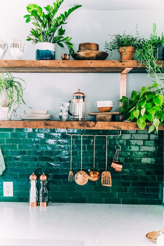 The ingredients to a perfect kitchen: copper and greenery - Vogue Living